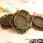 4 Antique Bronze Base Setti..