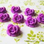 36 Resin Roses Cabochons Flower Accessory 18x17x8mm