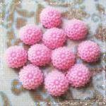 24 Resin Chrysanthemum Mum Flower Cabochons Accessory 10x4.5mm