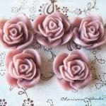 24 Resin Roses Cabochons Flower Accessory 22x22x12mm